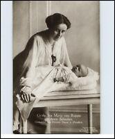 ~1910 Gräfin Ina Maria v. Ruppin Gemahlin Prinz Oskar v. Preußen mit Söhnchen