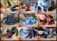 """THE AVENGERS KREE-SKRULL WAR (2011) Complete """"CHARACTER"""" Chase Card Set of 9"""