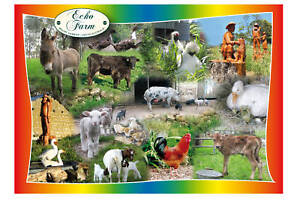 JIGSAW TRAY PUZZLE - FARM ANIMALS IN VIBRANT COLOUR - EXCLUSIVE QUALITY DESIGN