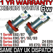 BMW XENON ANGEL EYE 6w LED MARKER H8 BULB KIT 1 3 5 6 Series X5 X6 Z4 1YR WARNTY