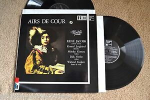 AIRS DE COUR Jacobs Junghanel Kimura Verelst Orchestra 2 RECORDS LPS NM
