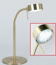 Endon Satin Brass Low Energy Articulated Desk Table Lamp 102-TLSB