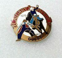 VINTAGE! 1976 Calgary Stampede Alberta Canada Lapel Hat Pin - Guest