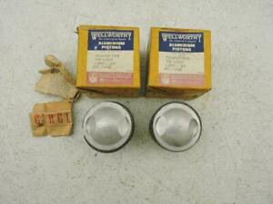 NOS Wellworthy .040 Pistons And Rings Pre-Unit 500 Triumph 5T T100 Tiger 1679br