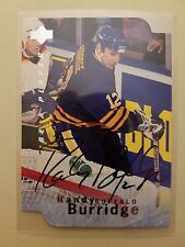 Randy Burridge (Sabres) 1995-96 Be A Player hockey DIE CUT AUTOGRAPH