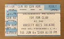 1989 Tom Tom Club Los Angeles Concert Ticket Stub Talking Heads Tina Weymouth