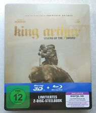 King Arthur - Legend of the Sword | 3D / 2D 2-Disc Blu-Ray Steelbook NEU NEW OVP