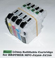 Short Refillable LC663 LC669 Cartridges for MFC–J2320 and MFC–J2720