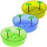 Turtle House Reptile PVC Terrarium Lagoon Habitat Feeding Port Tank Box