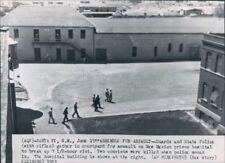 1953 Guards in Courtyard New Mexico Prison Santa Fe Press Photo