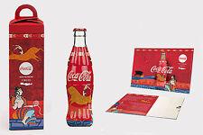 Coca Cola Collectible Bottle + Box + Card Postal Minoan Limited Edition