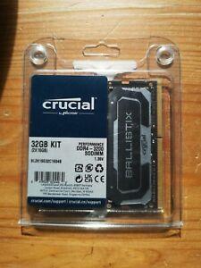 Crucial Ballistix 32GB (2 x 16GB) 3200MHz DDR4 Laptop Memory
