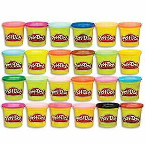 Play-Doh Modeling Compound 24-Pack Case of Colors Non-Toxic Multi-Color 3-Oun...