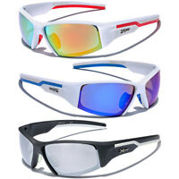 Rubberized Men Boys Cycling Baseball Racing Sports Sunglasses Mirrored Glasses