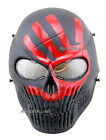 Skull skeleton Redhand Airsoft Paintball Full Face PC Len Protection Mask BB Gun