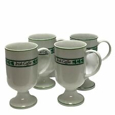 Irish Coffee Footed Pedestal Cup Mug  Set of 4  Vintage Barware