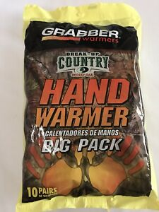 GRABBER Warmers  Mossy Oak Hand Warmers 10 Pairs Big Pack New