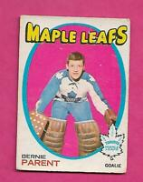 1971-72 OPC # 131 LEAFS BERNIE PARENT GOALIE GOOD CARD  (INV# C2486)
