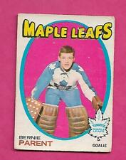 1971-72 OPC # 131 LEAFS BERNIE PARENT GOALIE GOOD CARD  (INV# C2486)