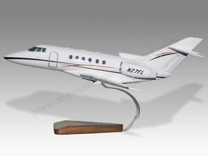 Hawker Beechcraft 125 800XP Solid Kiln Dry Mahogany Wood Airplane Desktop Model
