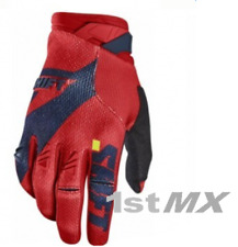 Shift 3LACK Label PRO Motocross MX OffRoad Race Gloves Navy Red Adults Small