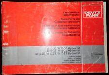 Deutz Fahr Mähdrescher M 1300 , M 1300 Hydromat Ersatzteilliste