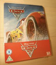 Disney Pixar's Cars 3 2D / 3D Blu Ray Steelbook UK Ltd Ed NEW SEALED Region Free