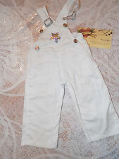 AMERICAN GIRL WHITE OVERALLS BIBS fr REVUE OUTFIT TAGGED PLEASANT CO RETIRED