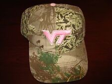 VIRGINIA TECH HOKIES CAMO PINK   THE GAME SCRIPT HAT CAP ADJUSTABLE STRAPBACK