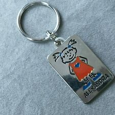 Alexandra Keychain Keyring Girl Name Personalized Ganz NEW