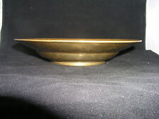 "Vintage 9 1/2"" Shallow Brass Bowl -Unusual- Dong Wha Brass Co. Seoul Korea"