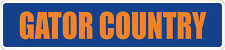 "*Aluminum* Gator Country 4"" x 18"" Metal Novelty Street Sign  SS 1508"