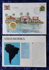 Numisbrief - Südamerika / Suriname - mit 25 Cent Münze - 1979 + Briefmarke