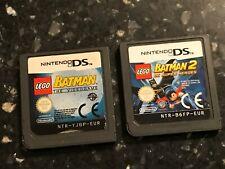 2x NINTENDO DS DSL DSi GAMES LEGO BATMAN 1 THE VIDEOGAME + 2 DC SUPER HEROES