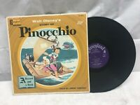 Walt Disney's Pinocchio Read-Along Book Told By Jiminy Cricket Very Good