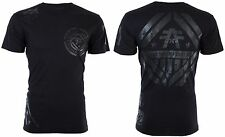 AMERICAN FIGHTER Men T-Shirt AVERETT Athletic BLACK REFLECTIVE Biker Gym UFC $40