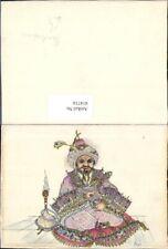 414716,Künstler Ak Dagi Hinduismus Indien Mann Rauchen Wasserpfeife Volkstypen A