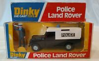 Vintage Dinky 277 Police Land Rover with opening doors / bonnet + figure VGC