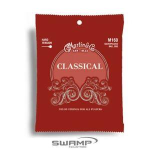 Martin M160 Classical Nylon, Silver Ball End Guitar String Set 28-43