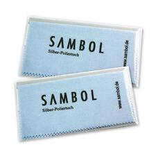 2 Stück Sambol Silber Poliertuch Reinigungstuch Pflegetuch Silberpflege 1382