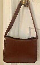 Vintage Cole Haan Brown Tan Leather Handbag Purse Arm Bag Medium