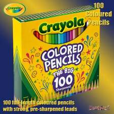Crayola 100 De Largo Completo Color Colorante Lápices Lápices de Colores