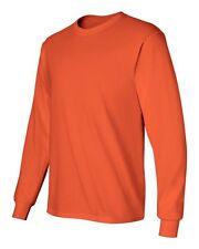 Gildan Ultra Cotton (Pack of 3) Mens Crewneck Long Sleeve T-Shirt S-5XL - 2400