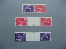ISRAEL, reversed pair MHN + 2x reversed gutter pair MHN 1950, UPU