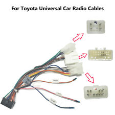Set wiring harness adaptor cable connector lead loom plug wire Fit for Toyota