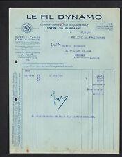 """LYON-VILLEURBANNE (69) USINE de FILS & CABLES ELECTRIQUES """"LE FIL DYNAMO"""" en1927"""