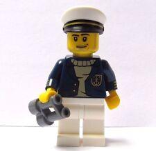 Figura Lego Macho Man Minifigura con binoculares barco Capitán Pescador De Mar