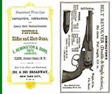 Remington 1873 Illustrated Price List & Gun Catalog