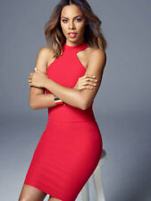 Rochelle Humes Red High Neck Dress 16