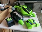 Mattel Hot Wheels RC Terrain Twister Green Battery Charger Remote Tested Working